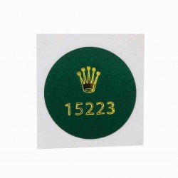 15223 Rolex Caseback Sticker Vintage Date Steel Yellow Gold Automatic 34mm