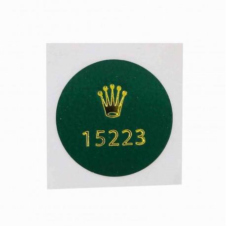 15223 Rolex Caseback Sticker Vintage Date Stahl Gelbgold Automatik 34mm