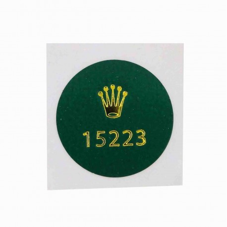 15223 Rolex Caseback Sticker Vintage Date Steel Yellow Gold Automatic 34mm