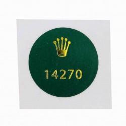 14270 Rolex Explorer I Stahl Caseback Sticker Vintage