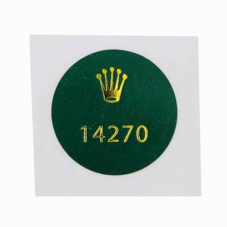 14270 Rolex Explorer I Steel Caseback Sticker Vintage