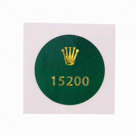 15200 Rolex Vintage Caseback Sticker Date Stahl 34mm Automatik