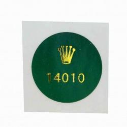 14010 Rolex Caseback Sticker Vintage Air King Stainless Steel Automatic - Swiss Watch