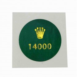 14000 Rolex Caseback Sticker Vintage Air King Stahl Automatik 34mm