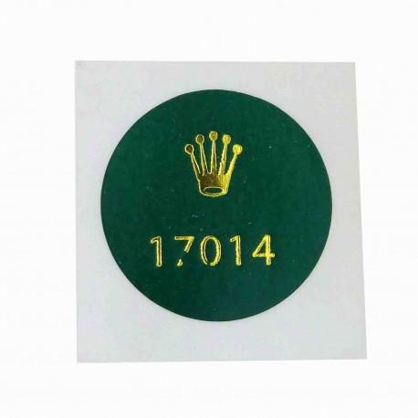 17014 Rolex Caseback Sticker Date Just Oysterquartz Stainless Steel Bezel White Gold 36mm