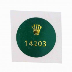 14203 Rolex Caseback Sticker Oyster Perpetual Stainless Steel Gold 34mm