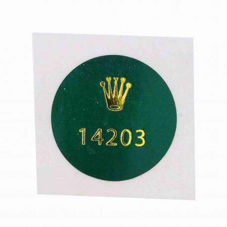 14203 Rolex Caseback Sticker Oyster Perpetual Stahl Gold 34mm