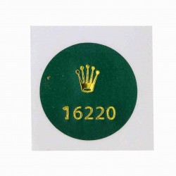 16220 Rolex Case Back Sticker Date Just Steel 36mm Automatic