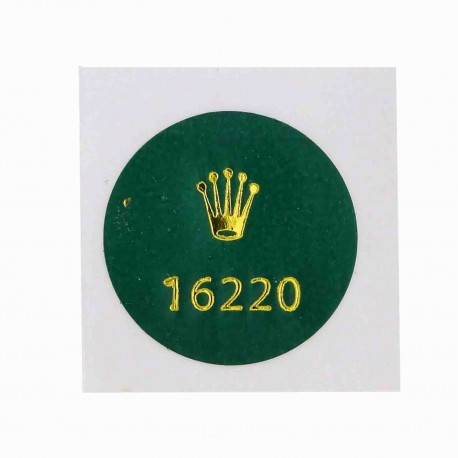 16220 Rolex Case Back Sticker Date Just Steel 36mm Automatic