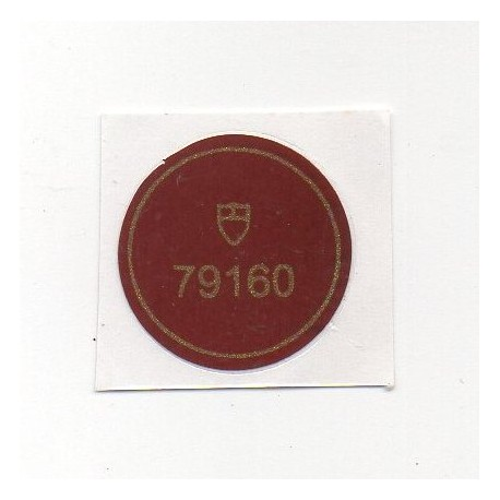 79160 Tudor Vintage Case Back Sticker Big Block Chronograph Stahl Automatik - Schweizer Uhr