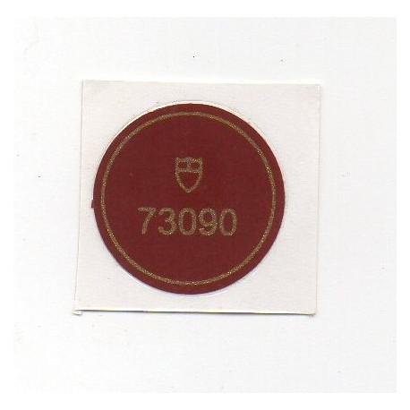 73090 Tudor Vintage Case Back Sticker Chronograph Steel Automatic - Swiss Watch