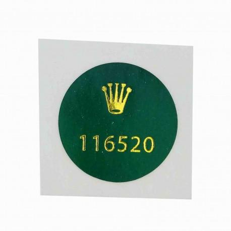 116520 Rolex Vintage Case Back Sticker Daytona Cosmograph Stahl