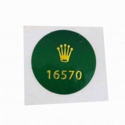16570 Rolex Case Back Sticker Explorer II Steel