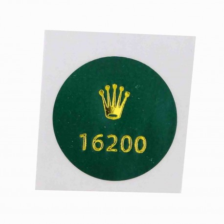 16200 Rolex Vintage Case Back Sticker Date Just Stahl 36mm