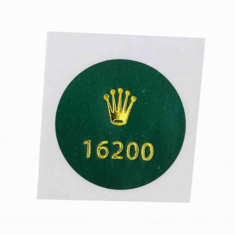 16200 Rolex Vintage Case Back Sticker Date Just Steel 36mm