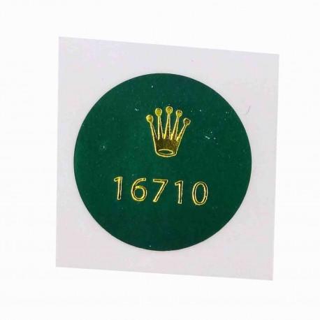 16710 Rolex Case Back Sticker Vintage GMT Master II Stahl Automatik