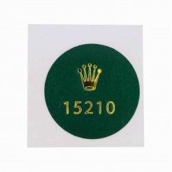 15210 Rolex Vintage Case Back Sticker Date Stahl Automatik