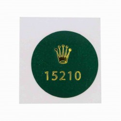 15210 Rolex Vintage Case Back Sticker Date Stainless Steel Automatic