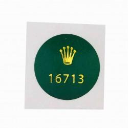 16713 Rolex Case Back Sticker Vintage GMT Master Stainless Steel Gold