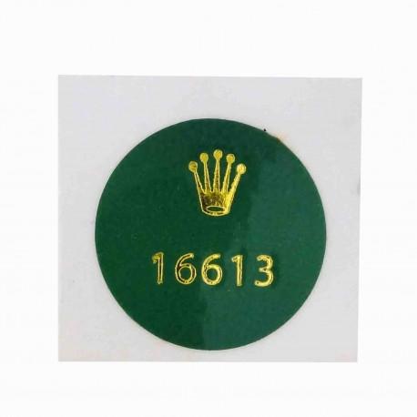 16613 Rolex Case Back Sticker Submariner Date Steel Gold