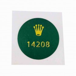 14208 Rolex Case Back Sticker Vintage Oyster Perpetual Yellow Gold