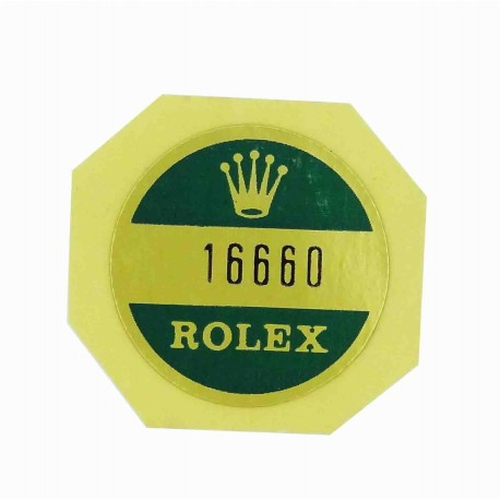 16660 Rolex Case Back Sticker Sea Dweller Steel