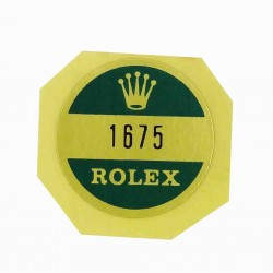 1675 Rolex Case Back Sticker GMT Master Stahl