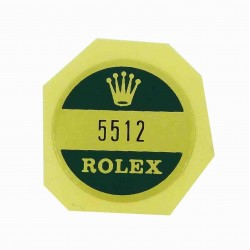5512 Rolex Case Back Sticker Submariner Steel