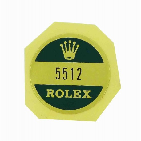5512 Rolex Case Back Sticker Submariner Stahl