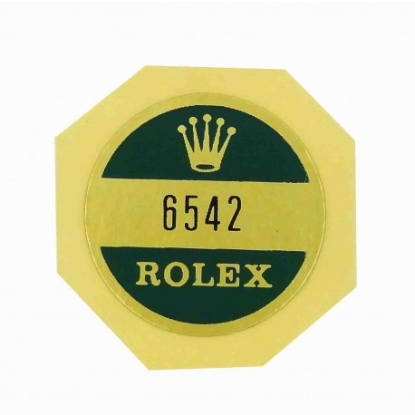 6542 Rolex Case Back Sticker GMT Master Stahl