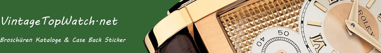 Rolex Case Back Sticker und Broschüren für viele Vintage Rolex Uhren. Werten Sie Ihre Rolex Uhr mit einem neuen Rolex Case Back Sticker auf