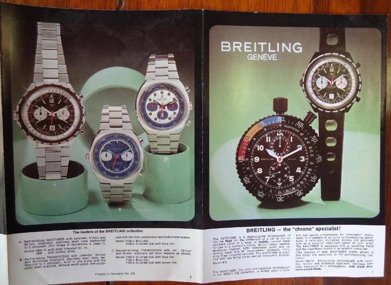 Breitling Broschüre - Breitling Uhrenkataloge